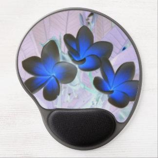 Blue Stylish Flower Gel Mouse Pad