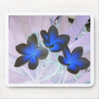 Blue Stylish Flower Mousepad