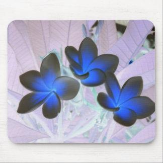 Blue Stylish Flower Mouse Pad