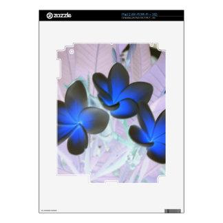 Blue Stylish Flower iPad 2 Decals