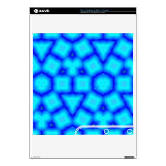 Blue Stylish pattern Decals For The PS3 Slim