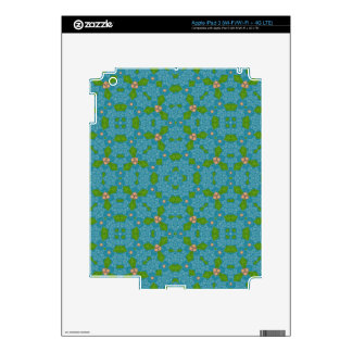 Blue Stylish Pattern Skins For iPad 3