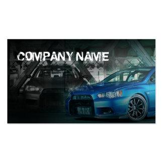 blue stylish sport car business card