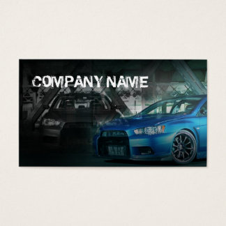 blue stylish sport car business card