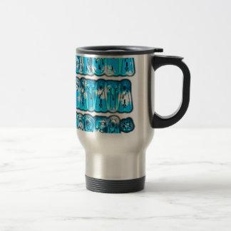 Blue stylish vintage Zombi  Design Hakuna Matata K 15 Oz Stainless Steel Travel Mug