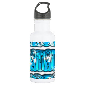 Blue stylish vintage Zombi  Design Hakuna Matata K 18oz Water Bottle