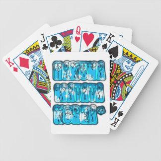 Blue stylish vintage Zombi  Design Hakuna Matata K Bicycle Playing Cards