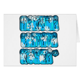 Blue stylish vintage Zombi  Design Hakuna Matata K Card