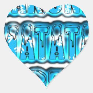 Blue stylish vintage Zombi  Design Hakuna Matata K Heart Sticker