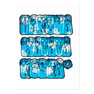 Blue stylish vintage Zombi  Design Hakuna Matata K Postcard