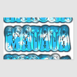 Blue stylish vintage Zombi  Design Hakuna Matata K Rectangular Sticker