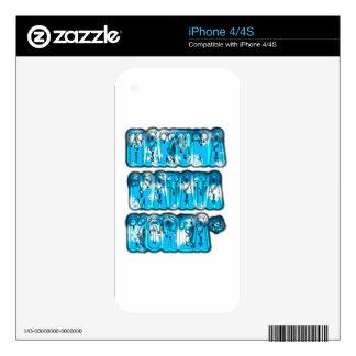 Blue stylish vintage Zombi Design Hakuna Matata K iPhone 4 Skin