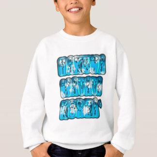 Blue stylish vintage Zombi  Design Hakuna Matata K Sweatshirt