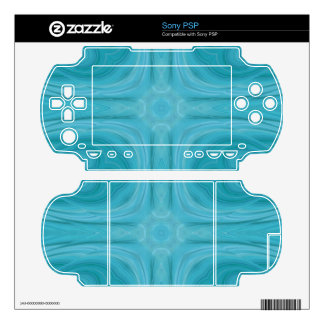 Blue stylish wood pattern decals for the PSP