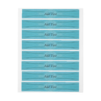 Blue stylish wood pattern wraparound address label