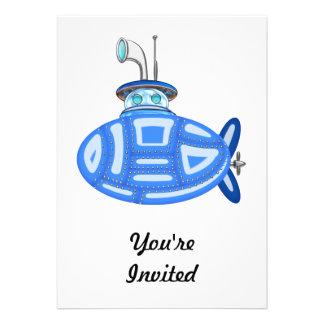 Blue Submarine Card