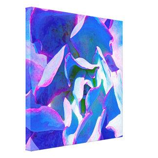 Blue Succulent Canvas Print