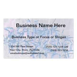 blue succulent flowers invert image business card templates