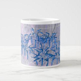 blue succulent flowers invert image jumbo mug