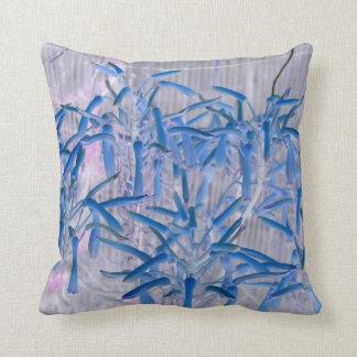 blue succulent flowers invert image throw pillow