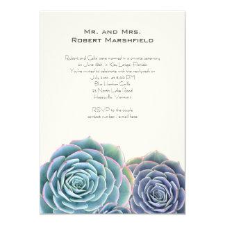 Blue Succulents Private Wedding Announcement