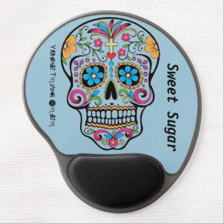 Blue Sugar Skull Gel Mouse Pads