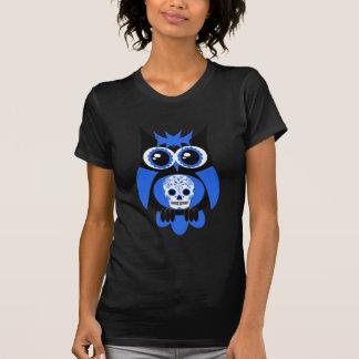 Blue Sugar Skull Owl T-Shirt