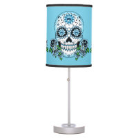 Blue Sugar Skull Table Lamp