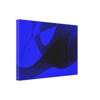 Blue Sumi-e Gallery Wrap Canvas