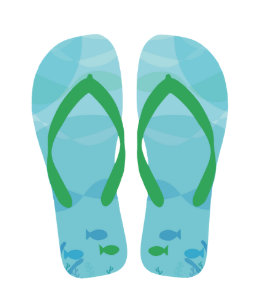 57f9b1bed Blue Summer Beach Party Flip Flops Gift Tag