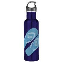 Blue Summer Beach Theme Flip Flops Bottle