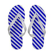 Blue Summer Flip Flops