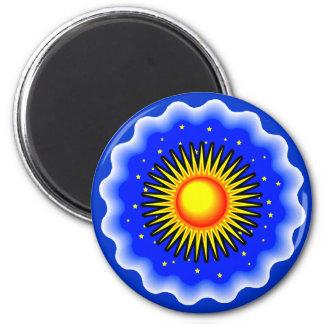 Blue Sun 2 Inch Round Magnet