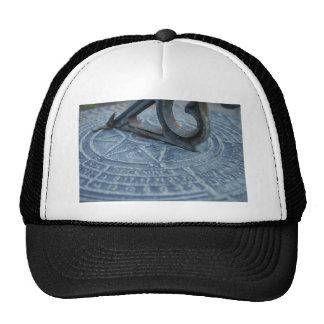 Blue sun dial mesh hats