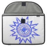 Blue Sun in Lights Grunge Cutout Sleeve For MacBook Pro
