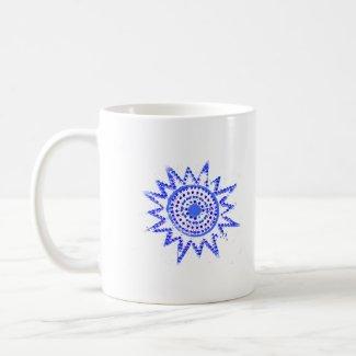 Blue Sun in Lights Grunge Cutout mug