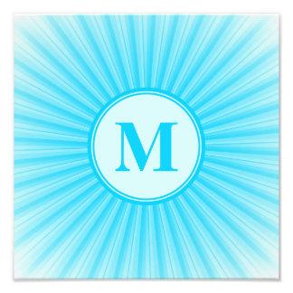 Blue Sun Monogram Customisable Photo Art