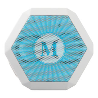 Blue Sun Monogram Customisable White Boombot Rex Bluetooth Speaker
