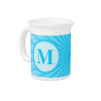 Blue Sun Monogram Personalised Drink Pitcher