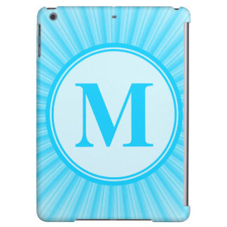 Blue Sun Monogram Personalised iPad Air Covers