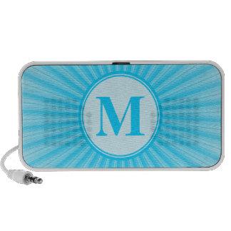 Blue Sun Monogram Personalised Mp3 Speakers