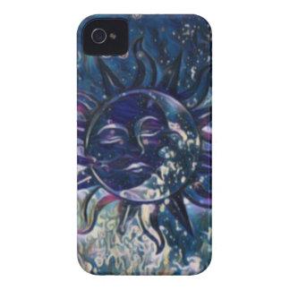 Blue Sun Moon iPhone 4 Case-Mate Case