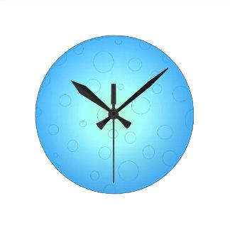 Blue Sun Sky Bubbles CricketDiane Round Clock