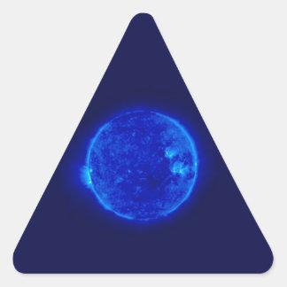 Blue Sun Triangle Sticker