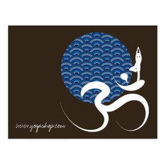 Blue Sun Yoga Spiritual Indian Writing Om Ohm Logo Post Cards