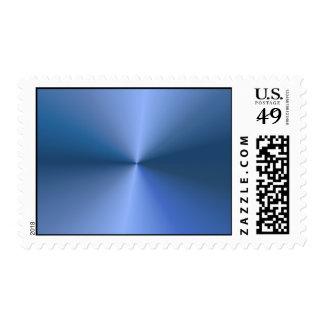 "Blue ""sunburst"" background postage stamp"