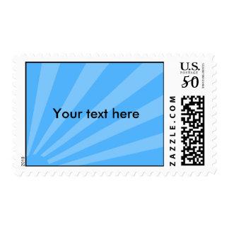 Blue sunburst postage