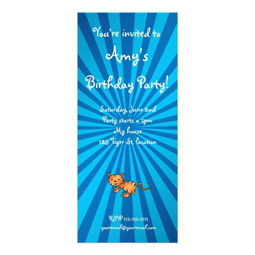 Blue sunburst tiger invitation