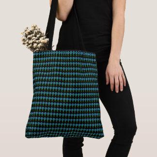 Blue-Sunflower-Black-Modern-Totes-Shoulder-Bag Tote Bag