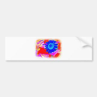Blue Sunflower Bumper Sticker